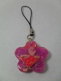 Piglet Phone Charm  A cute handmade piglet phone charm.  Height: 2.6 cm