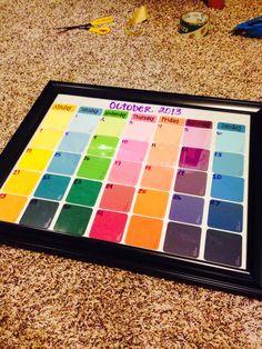 Homemade calendar!