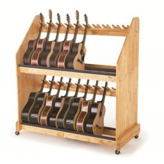 Wenger's Mobile Guitar Storage Rack    A beautiful way to treat your guitars!