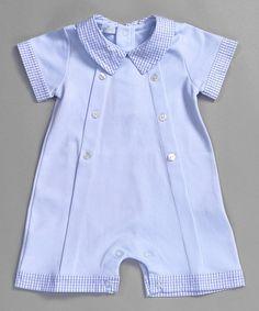 Look what I found on #zulily! Blue Sam Pima Romper - Infant & Toddler #zulilyfinds