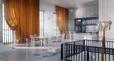 """Poczekalnia"", a restaurant design inspired by prison 