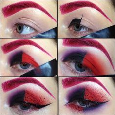 Tutorial for Harly Quinn makeup - Kiki makeup