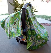 Infant car seat cover sewing tutorial