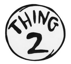 Seuss Thing 2 Embroidered Patch by Elope - Halloween Costumes Easy Halloween Costumes, Halloween Shirt, Diy Costumes, Halloween 2019, Halloween Crafts, Costume Ideas, Dr Seuss Birthday Party, Birthday Fun, Dr Seuss Week