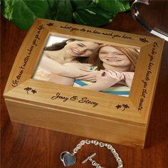 Photo Keepsake Box | Personalized Who You Have Beside You Keepsake Box