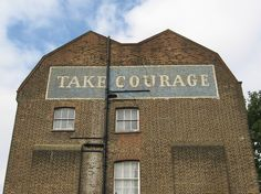 Take Courage Beer ghost sign, London
