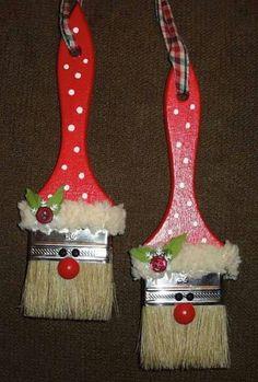 Brochas Christmas Stockings, Crafts, Painted Wood, Tejido, Christmas Leggings