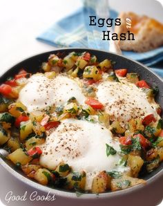 Eggs on Hash    Don't limit this quick dish to weeknight; it makes a fabulous weekend brunch offering as well.