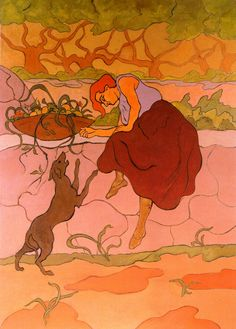 The Athenaeum - Woman with Jumping Dog (Paul Ranson - )