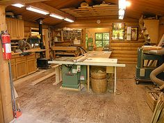 plywood floor, stove for heat, fire extinguisher, lots of lighting
