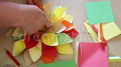 Video about Flower colored paper - handmade paper cones. Paper Cones, Colored Paper, Colorful Flowers, Kindergarten, Mango, Fruit, Children, Handmade, Food