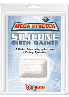 Buy Mega Stretch Silicone Girth Gainer 2 Inch Clear online cheap. SALE! $11.49