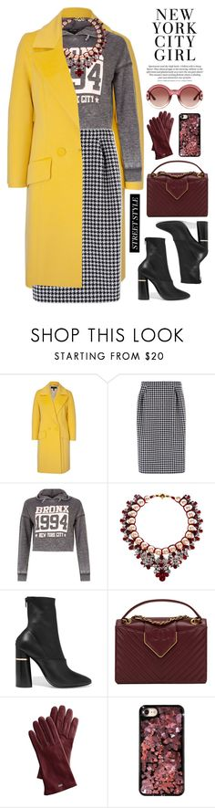 """""""NYFW"""" by bmaroso ❤ liked on Polyvore featuring ESCADA, MaxMara, New Look, Shourouk, 3.1 Phillip Lim, Chanel, Mark & Graham, Chrome Hearts, Gucci and StreetStyle"""