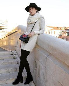 moda, meus looks, veneza, Itália, Italy, fashion week, fashion, hm, zara, chapéu preto, looks, inspiração, botas, galeries lafayette, primark, bolsa, style, street style, my style, look elegante, inverno, inverno 2017,