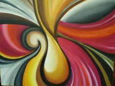 abstracto cuadro al oleo lienzo algodón (61x50) oleo