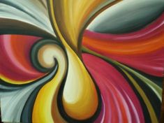 Abstracto - artesanum com Cool Abstract Art, Mother Painting, Lemon Art, Batik Art, Indian Art Paintings, Whimsical Art, Fractal Art, Lovers Art, Pop Art