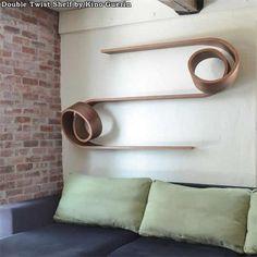 Double Twist Shelf by Kino Guerin.