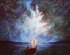 Calm and Stars Yongsung Kim Havenlight.com painting