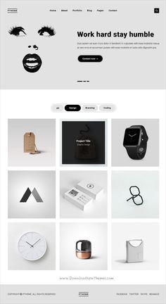 Ptheme is a clean and unique design #PSD template for minimal #portfolio websites download now➩  https://themeforest.net/item/ptheme-minimal-portfolio-psd-template/19338283?ref=Datasata