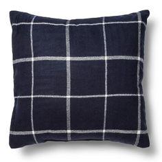 Throw Pillow Plaid - Threshold - Blue