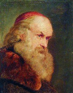 Portrait of an Old Man, c. 1860 - Konstantin Makovsky (Russian, 1839-1915)