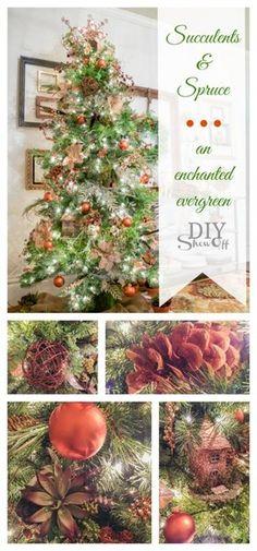 Succulents & Spruce Christmas Tree @diyshowoff - #michaelsmaker dream ...