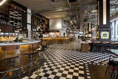 Bread Street Kitchen, London: Inspired by industrial glamour, the striking interiors of Bread Street Kitchen were recognised with a Global RLI Award for Interior Excellence.