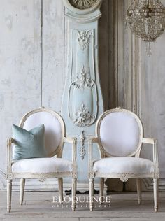 ELOQUENCE® Antique Gustavian Armchairs