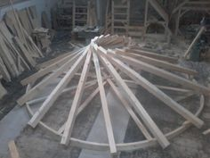 Bench Works – Reciprocal Roof Gazebo – Timber Frame HQ – Dachkonstruktion – Home Recipe Timber Roof, Timber Windows, Timber Window Frames, Mountain Home Exterior, Mountain Homes, Board And Batten Exterior, Wood Truss, Timber Structure, Rustic Home Design