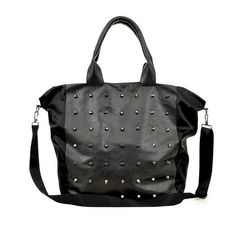 04ead571f023 New Women Black Unique Shoulder Body Cross Rivet Korea Fashion Travel Big  Bag EBAY ID
