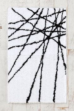 Abstract-Line Bath Mat - Urban Outfitters