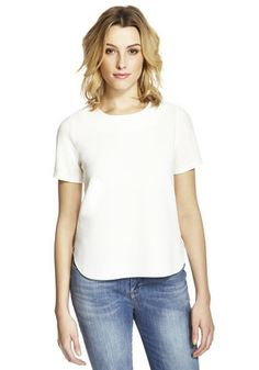 Textured Crepe Shell Top