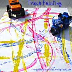 Crayon Box Chronicles: Kid Crafts -- Track Painting