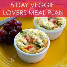 5-Day Veggie Lovers Menu Plan