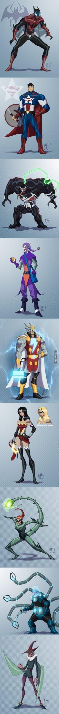 Marvel + DC : j'addore Flash-thor et Wonder-Marvel !