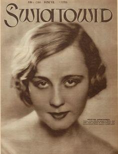 Krystyna Ankwicz on the cover Światowid, 1930.