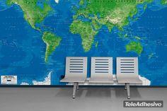 Papier peint vinyle Carte de Monde