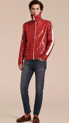 Sequin Track Jacket | Burberry