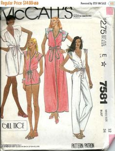 ON SALE McCall's 7581 Misses Cover-Up Robe by DawnsDesignBoutique