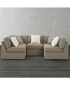 Becky U Shaped Sectional By Bassett Furniture   Contemporary   Sectional  Sofas   Raleigh   Bassett Furniture