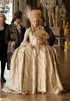 The Enchanted Garden - Diane Kruger as Marie Antoinette in Farewell, My. 18th Century Dress, 18th Century Costume, 18th Century Fashion, Mode Rococo, Rococo Style, Period Costumes, Movie Costumes, Historical Costume, Historical Clothing