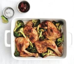 Easy weeknight dinner recipes: Chipotle roasted chicken and broccoli