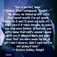 Knight by Kristen Ashley. Need to read this one next!