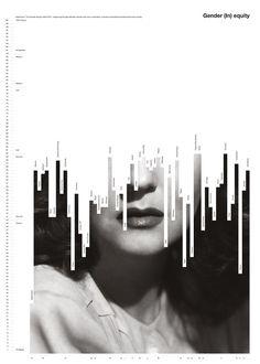 Gender (In) equity de Fabio Caselli, Suisse. Gender (In) equity de Fabio Caselli, Suisse. Book Design Graphique, Mises En Page Design Graphique, Illustration Design Graphique, Art Graphique, Poster Design, Graphic Design Posters, Graphic Design Typography, Graphic Design Inspiration, Modern Graphic Design