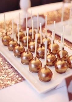 bronze cake pops! wowza!