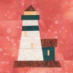 Fort Gratiot Lighthouse Quilt Block Pattern