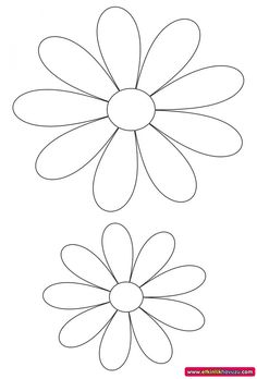 Discover thousands of images about flower template - Flower Crafts Kids, Paper Flower Patterns, Alcohol Ink Crafts, How To Make Paper Flowers, Crafts For Seniors, Flower Template, Painted Pots, Foam Crafts, Applique Patterns