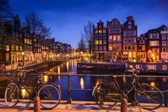 Lots of Canals and bikes..in Amsterdam