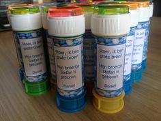 Bellenblaas Blauwe Muisjes - Ik ga trakteren, Traktatie, Traktaties, Kindertraktatie, Kindertraktaties, Verjaardag, kinderfeestje