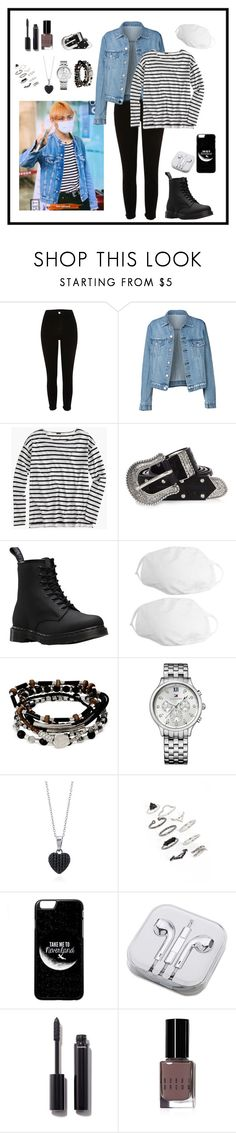 """""""Airport-Fashion (Taehyung Style)"""" by parkjiminie ❤ liked on Polyvore featuring River Island, J.Crew, Dr. Martens, Kenneth Cole, Tommy Hilfiger, BERRICLE, Topshop, PhunkeeTree, Chanel and Bobbi Brown Cosmetics"""